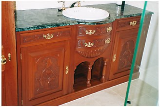 Brisbane Wash basins made to fit into cavities