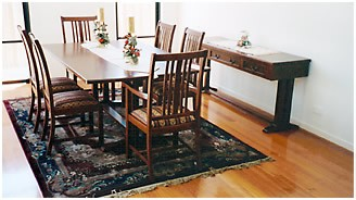 Custom made dining room table and chairs Brisbane
